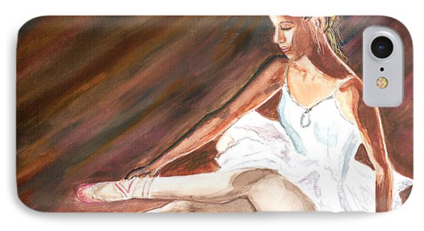 IPhone Case featuring the painting Ballet Dancer by Clara Sue Beym