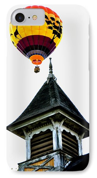 IPhone Case featuring the photograph Balloon By The Steeple by Rick Frost