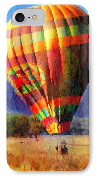 IPhone Case featuring the photograph Balloon Landing In Los Frailes by John  Kolenberg