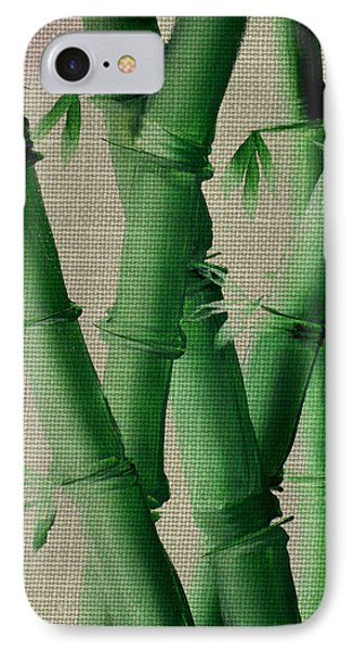 IPhone Case featuring the painting Bamboo Cloth by Kathy Sheeran
