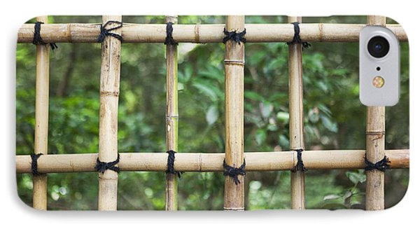 Bamboo Fence Detail Meiji Jingu Shrine IPhone Case by Bryan Mullennix