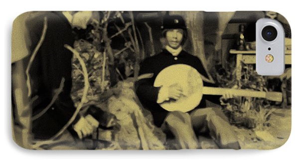 Banjo Playing Union Soldier Phone Case by Bill Cannon