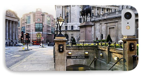 Bank Station Entrance In London Phone Case by Elena Elisseeva