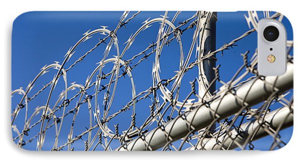 Barbed Wire And Chain Link Fence Phone Case by Paul Edmondson