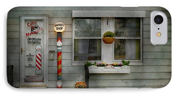 Barber - Belvidere Nj - A Family Salon Phone Case by Mike Savad