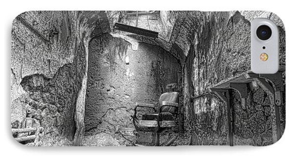 Barber - Chair - Eastern State Penitentiary - Black And White IPhone Case