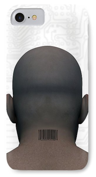 Barcoded Man, Artwork Phone Case by Victor Habbick Visions