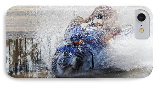 Bare Chest Rider Splash Phone Case by Kantilal Patel