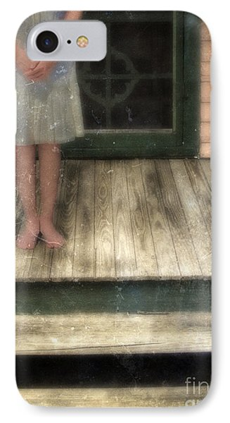 Barefoot Girl On Front Porch IPhone Case