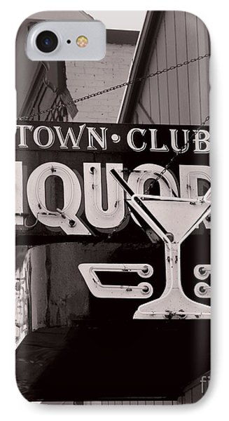 IPhone Case featuring the photograph Barhopping At The Town Club 1 by Lee Craig