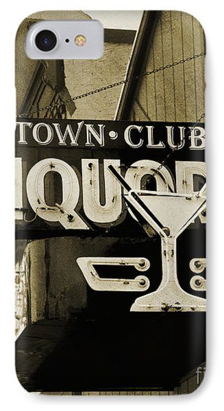 IPhone Case featuring the photograph Barhopping At The Town Club 2 by Lee Craig