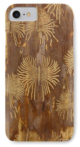 Bark Beetle Galleries Phone Case by Ted Kinsman