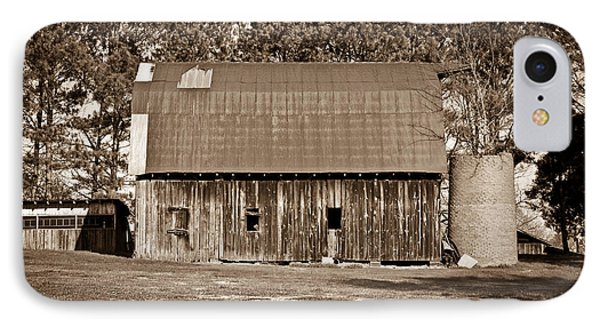 Barn And Silo 2 Phone Case by Douglas Barnett