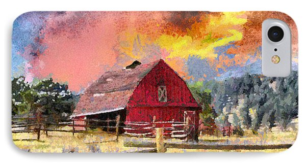Barn And Sky Phone Case by Anthony Caruso