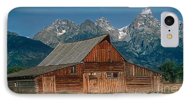 IPhone Case featuring the photograph Barn And Tetons by Jerry Fornarotto
