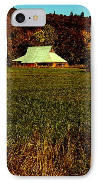 IPhone Case featuring the photograph Barn In The Style Of The 60s by Mick Anderson