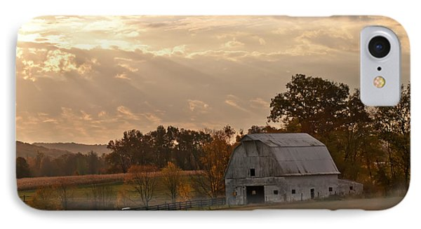 Barn In Warming Storm Phone Case by Randall Branham