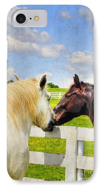 Barn Yard Kisses Phone Case by Darren Fisher