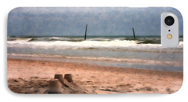 Barnacle Bill's And The Sandcastle Phone Case by Betsy Knapp