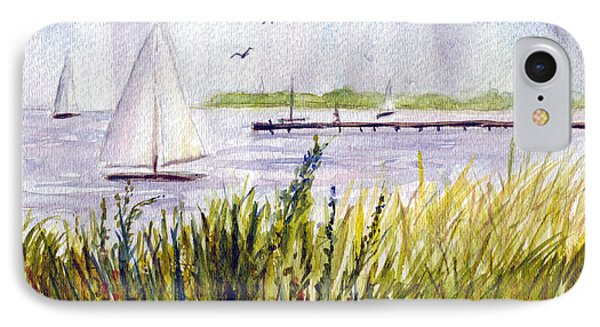 IPhone Case featuring the painting Barnegat Sails by Clara Sue Beym