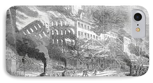 Barnums Museum Fire, 1865 Phone Case by Granger
