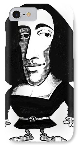 Baruch Spinoza, Caricature Phone Case by Gary Brown