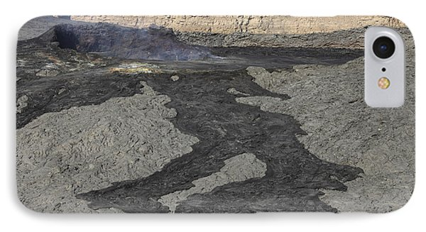 Basaltic Lava Flow From Pit Crater Phone Case by Richard Roscoe