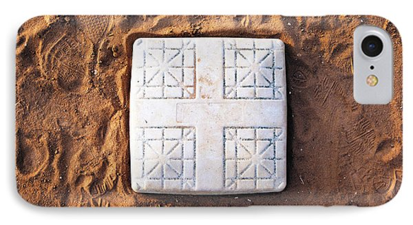 Base On Baseball Field Phone Case by Skip Nall