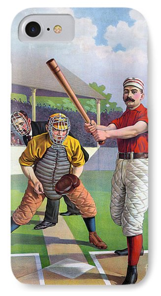 Baseball Game, C1895 Phone Case by Granger
