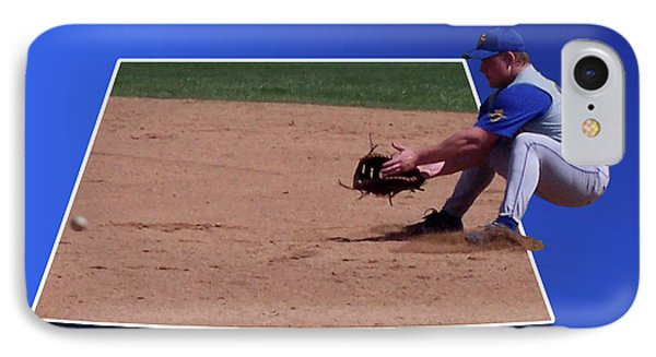 Baseball Hot Grounder Phone Case by Thomas Woolworth