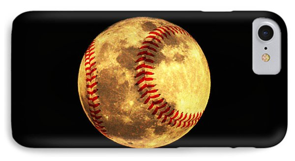Baseball Moon Phone Case by Bill Cannon