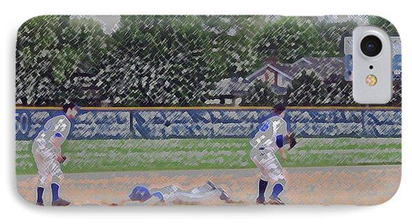 Baseball Playing Hard Digital Art Phone Case by Thomas Woolworth
