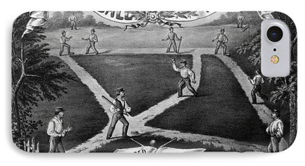 Baseball Polka, 1867 Phone Case by Granger