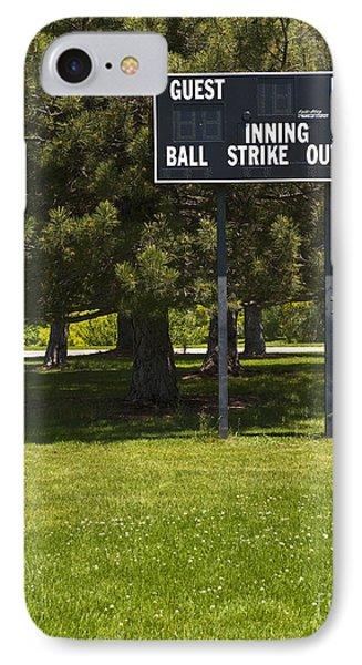 Baseball Scoreboard Phone Case by Thom Gourley/Flatbread Images, LLC
