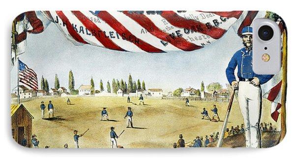 Baseball Song Sheet, 1860 Phone Case by Granger
