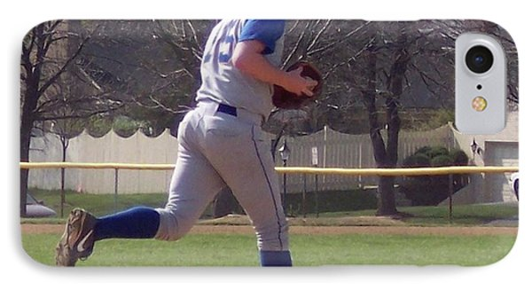 Baseball Step And Throw From Third Base Phone Case by Thomas Woolworth