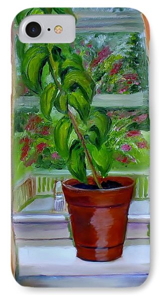 Basil In My Window Phone Case by Phebe Smith