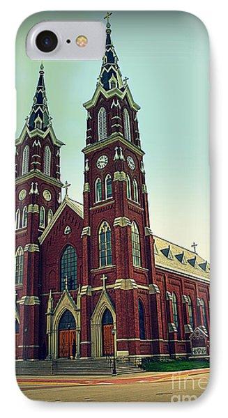 Basilica Of St.francis Xavier In Dyersville Iowa Phone Case by Susanne Van Hulst