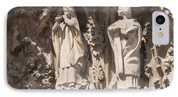 Basilica Sagrada Familia Nativity Facade Detail Phone Case by Matthias Hauser