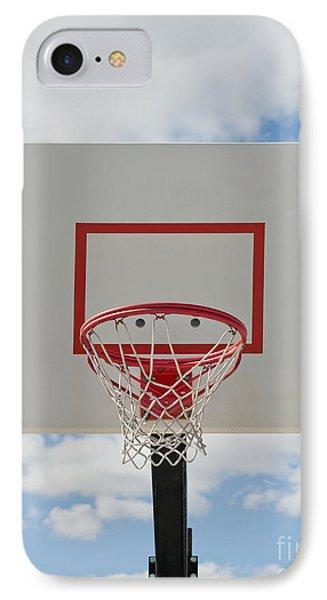 Basketball Backboard With Hoop And Net Phone Case by Thom Gourley/Flatbread Images, LLC