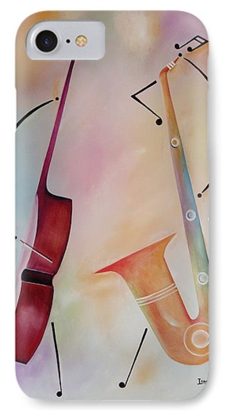 Bass And Sax IPhone Case by Ikahl Beckford