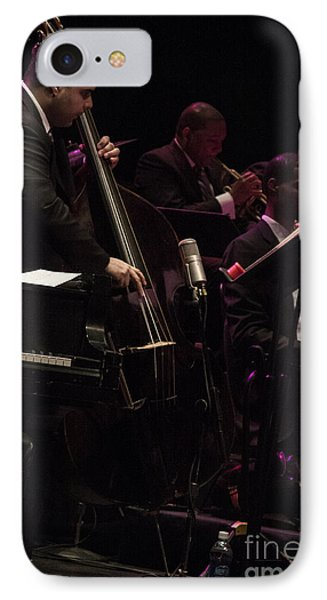 Bass Player Jams Jazz IPhone Case by Darleen Stry