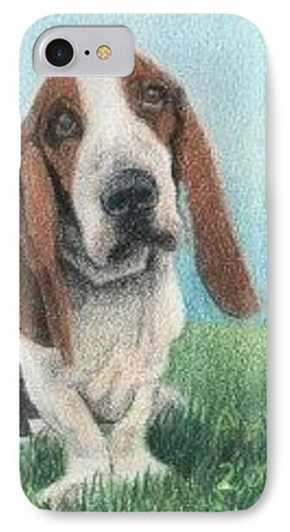 Basset Hound - Aceo IPhone Case by Ana Tirolese