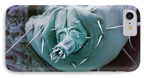 Bat Tick Mouthparts, Sem Phone Case by Steve Gschmeissner