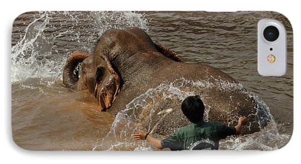 Bath Time In Laos Phone Case by Bob Christopher
