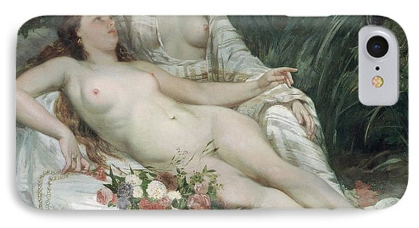 Bathers Or Two Nude Women Phone Case by Gustave Courbet