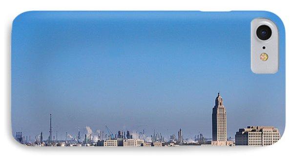 Baton Rouge Skyline Louisiana  Phone Case by Susanne Van Hulst