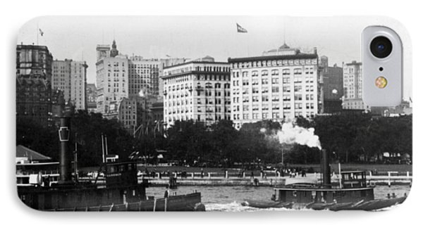 Battery Park And Lower Manhattan New York City - C 1904 Phone Case by International  Images