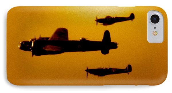 IPhone Case featuring the photograph Battle Of Britain Flight At Dusk by John Colley