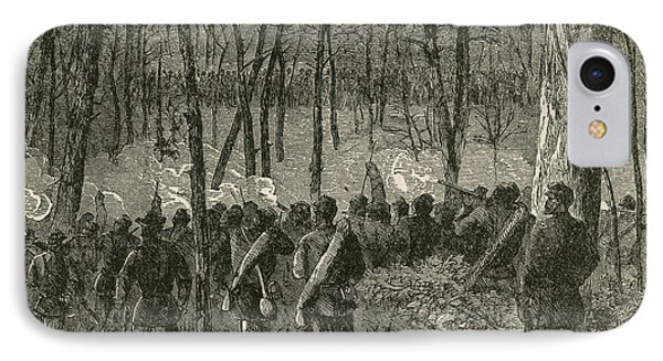 Battle Of The Wilderness, 1864 Phone Case by Photo Researchers